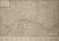Plan of London, Westminster and the borough of Southwark with all the additional streets, squares, &c. also the improved roads, to the year. From the best authors